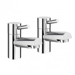 Charlton Bath Pillar Taps - Pair