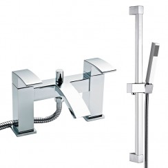 Chelsea Bath Shower Mixer Tap & Rail Kit
