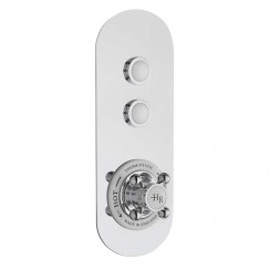 Traditional Two Outlet Push Button Shower Valve