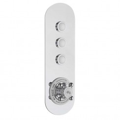 Traditional Three Outlet Push Button Shower Valve