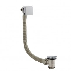Chrome Square Slimline Freeflow Bath Filler