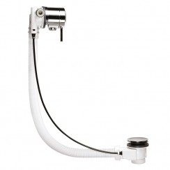 Chrome Single Lever Freeflow Bath Filler & Waste