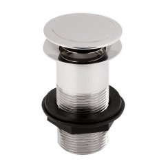 Round Push Button Basin Waste - Unslotted