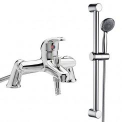 Eaton Bath Shower Mixer Tap & Rail Kit