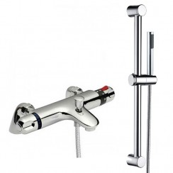 Eaton Thermostatic Bath Shower Mixer Tap With Shower Rail Kit