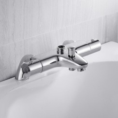 Eaton Thermostatic Bath Shower Mixer Tap with Top Outlet