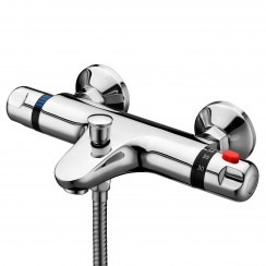 Eaton Thermostatic Bath Shower Mixer Tap - Wall Mounted