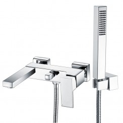 Eden Wall Mounted Bath Shower Mixer Tap Dimensions