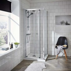Ella 760mm Shower Enclosure Bi-Fold Door