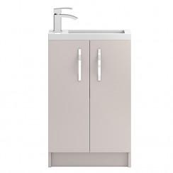 Apollo Compact Cashmere Floor Standing 500mm Vanity Cabinet & Basin