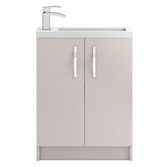 Apollo Compact Cashmere Floor Standing 600mm Vanity Cabinet & Basin