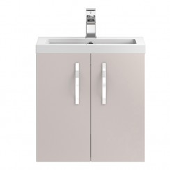 Apollo Cashmere Wall Hung 500mm Vanity Cabinet & Basin 1