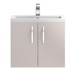 Apollo Cashmere Wall Hung 600mm Vanity Cabinet & Basin