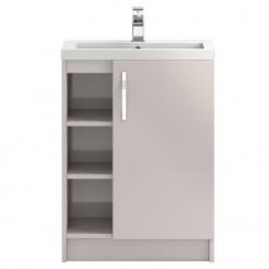 Apollo Cashmere Floor Standing 600mm Vanity Cabinet & Basin