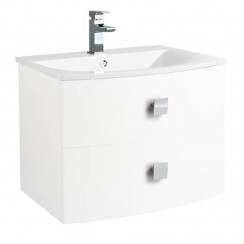 Sarenna White Wall Hung 700mm Vanity Cabinet & Basin