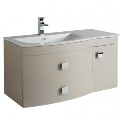 Sarenna Cashmere Wall Hung 1000mm Vanity Cabinet & Basin LH