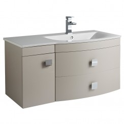 Sarenna Cashmere Wall Hung 1000mm Vanity Cabinet & Basin RH