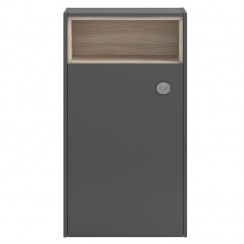 Coast Grey Gloss 600mm Open Shelf WC Unit