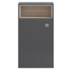 Hudson Reed Coast Grey Gloss 600mm Open Shelf WC Unit