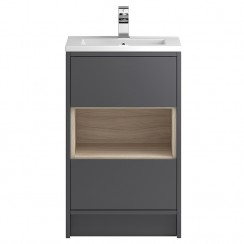 Coast Grey Gloss Floor Standing 500mm Cabinet & Basin 2
