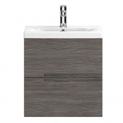 Urban Grey Avola Wall Hung 500mm 2 Drawer Vanity Cabinet & Basin 2
