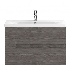 Urban Grey Avola Wall Hung 800mm 2 Drawer Vanity Cabinet & Basin 2