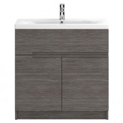 Urban Grey Avola Floor Standing 800mm 2 Doors, 1 Drawer Vanity Cabinet & Basin 2