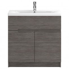 Urban Grey Avola Floor Standing 800mm 2 Door, 1 Drawer Vanity Cabinet & Basin 1