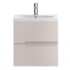 Urban Cashmere Wall Hung 500mm Cabinet & Basin 2