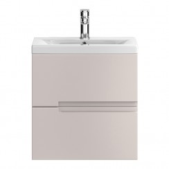 Urban Cashmere Wall Hung 500mm Cabinet & Basin 1