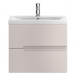 Urban Cashmere Wall Hung 600mm Cabinet & Basin 2