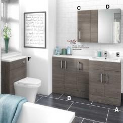 Hudson Reed Grey Avola Combination Furniture Suite