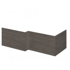 Brown Grey Avola MDF 1700mm Shower Bath Front Panel