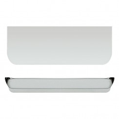 Chrome Large Rear Fixed 100 x 37 x 21mm Handle