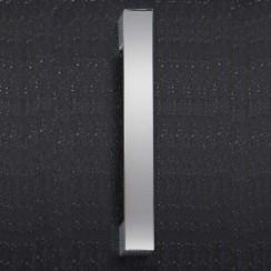 Chrome Rectangular 25mm Thick Handle 205 x 29mm