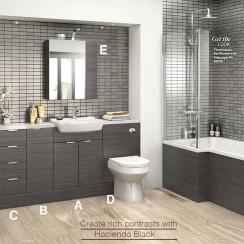 Hudson Reed Complete Hacienda Black Fitted Furniture Suite