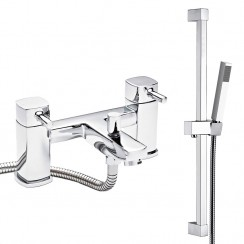 Hampton Bath Shower Mixer Tap & Rail Kit