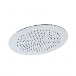 Hudson Reed Round Slim Stainless Steel Fixed Shower Head 300mm
