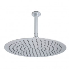Round Stainless Steel Fixed Shower Head & Arm