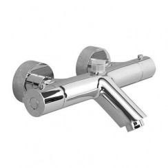 Soho Thermostatic Wall Mounted Bath Shower Mixer Tap with Top Outlet