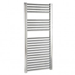 Chrome Straight Ladder Towel Rail