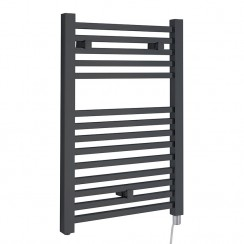 Electric Designer Heated Towel Rail - Anthracite - 960 x 500mm