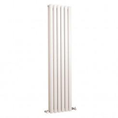 Revive Double Panel Vertical Designer Radiator - High White Gloss - 1500 x 354mm