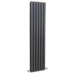 Revive Double Panel Vertical Designer Radiator - Anthracite - 1500 x 543mm