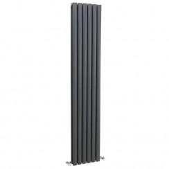 Revive Double Panel Vertical Designer Radiator - Anthracite - 1800 x 354mm
