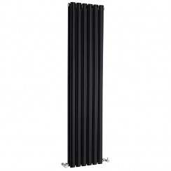 Revive Double Panel Designer Radiator - High Gloss Black - 1500 x 354mm