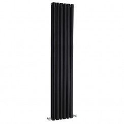 Revive Double Panel Designer Radiator - High Gloss Black - 1800 x 354mm