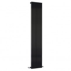 Parallel Designer Radiator - High Gloss Black - 1800 x 342mm