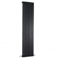 Kinetic Designer Radiator - High Gloss Black - 1800 x 360mm