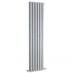 Revive Double Panel Designer Radiator - High Gloss Silver - 1500 x 354mm